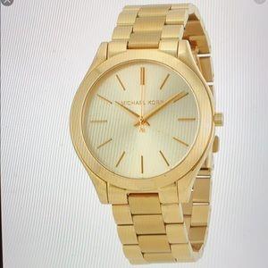 Michael Kors Women's Runway Watch- Gold Toned!